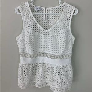 Bebe Womens Tank Top Size 10 Color White